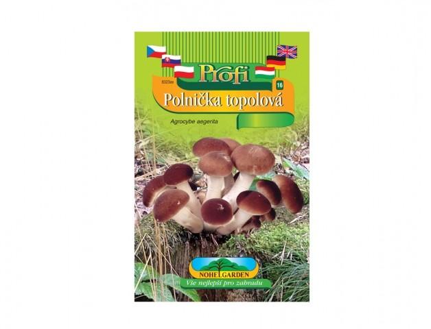 Polnička topolová (Agrocybe aegerita) Dřevokazná houba Polnička Topolová (agrocybe aegerita) původem ze středomoří je zmámá již z dob Starého Říma. Plodnice o půměru klobouku 2-10 cm se sklízejí téměř zavřené a mají výraznou chuť připomínající hřiby. Výborně se hodí ke konzervaci.Jak vypěstovat dřevokaznou houbu Polničku?Dřevokazné houby můžete pěstovat od jara do podzimu