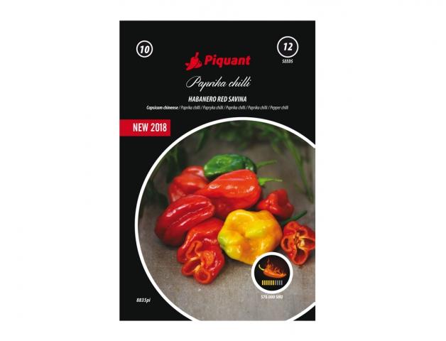 Paprička chilli HABANERO RED SAVINA Polopozdní plodná odrůda velmi pálivé papriky typu Habanero. Odrůda je vhodná pro pěstování s oporou v krytech nebo v nádobách. Plody jsou hladké