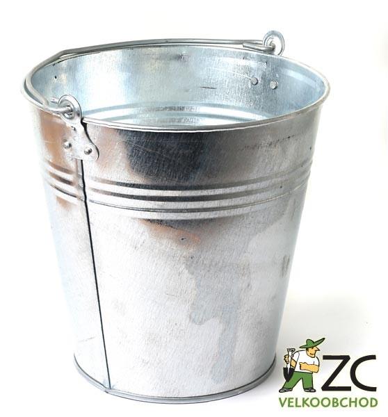 Vědro pozinkované 12L Popis:Pozinkované vědro o objemu 12 litrů