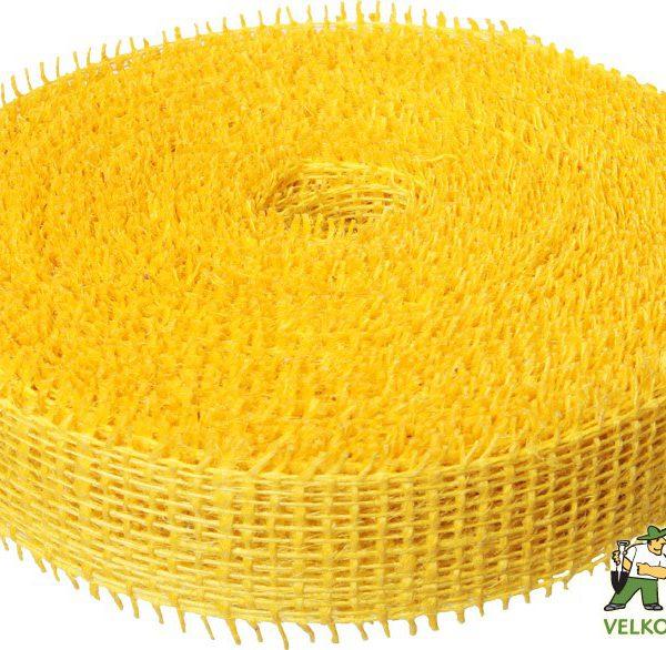 Jutová stuha 4 cm x 25 m - žlutá Popis:Jutová stuha se používá hlavně k dekoračním a aranžérským účelům.Rozměr:šířka: 4 cmdélka: 25 mBarva:žlutá