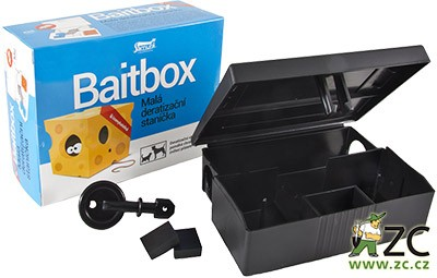 Baitbox - malá deratizační stanička Popis:Chrání použitý deratizační přípravek k hubení hlodavců před vlivem prostředí