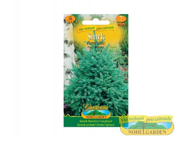 Smrk Pančičův - Picea omorika Počet semen: cca 10 ksVelikost rostliny v dospělosti : 30 až 50 m Stanoviště: jakékoliv Půda: běžnáSmrk omorika je jehličnatý