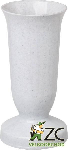 Váza hřbitovní KALICH těžké dno granit Popis:Plastová váza se zátěží v podstavci určená především na hřbitov