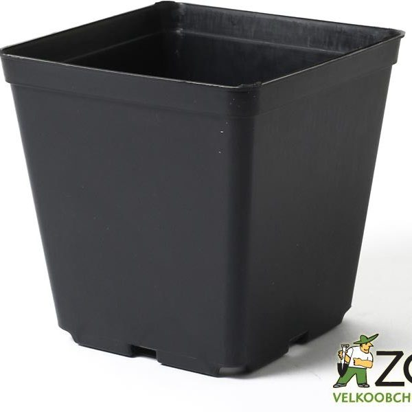 Kontejner pevná kvalita 15 x 15 x 15 cm Popis:Hranatý plastový černý kontejner pevné kvality je určený pro pěstování rostlin. Pevná kvalita znamená