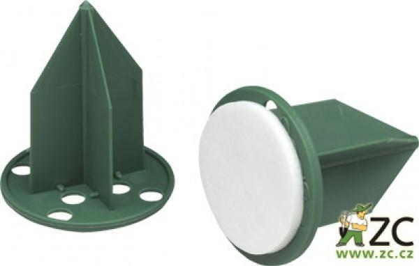 Oasis pini - na aranžovací hmotu zelený 3 cm s lepící podložkou Popis:Plastová fixační pomůcka s lepící podložkou pro uchycení svíček