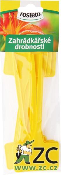 Jmenovka zapichovací Rosteto SL 135 žlutá 15x5