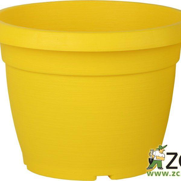 Květináč Similcotto broušený 25 cm žlutý Popis:Květináč s dezénem a odtokovými otvory v barvě žluté.Miska vhodná ke květináči: Similcotto 25 cm.Materiál:plastBarva:žlutáRozměry:průměr: 25 cmvýška: 19 cm
