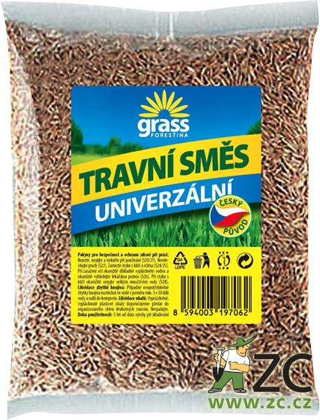 Travní směs Grass - univerzální 500 g Popis:Travní směs GRASS - univerzální je složena z tuzemských odrůd trav přizpůsobených našim klimatickým podmínkám. Používá se při zakládání nových trávníků
