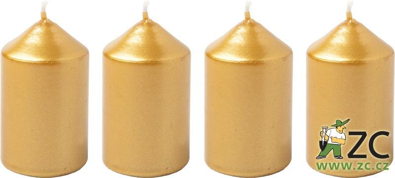 Svíčka adventní 40x60 mm - zlatá (4ks) Popis: Svíčky ke zdobení adventních věnců