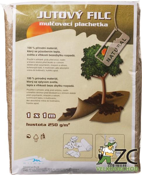 Jutový filc - plachetka 1 x 1 m Popis a použití:Díky svým vlastnostem nachází uplatnění především v zemědělství