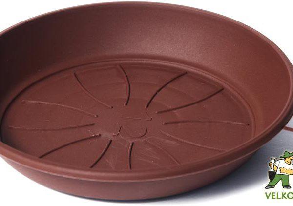 Miska Azalea 24 cm čokoládová Popis:Miska pod květináč v matném provedení. Vyrobena z odolného plastu - zabraňující praskání.Materiál:plastBarva:čokoládováRozměry:horní průměr: 24 cmspodní průměr: 18 cmvnitřní průměr: 17