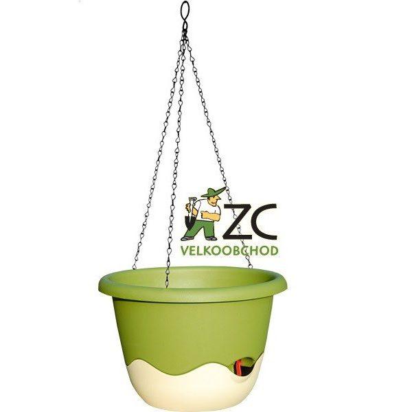 Květináč závěsný samozavlažovací Mareta 25 cm zelená světlá + slon.kost tmavá Popis:Závěsný samozavlažovací květináč Mareta svým hravým barevným designem ozdobí Váš dům