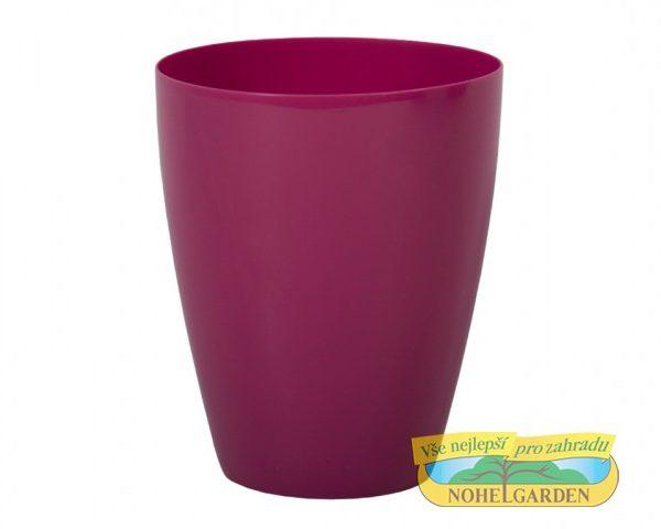 Obal Orchidea Dark 12 cm fialovo růžový Lesklý plastový obal s hladkým povrchem na orchideje. Díky zvednutému dnu nebude orchidej položena ve vodě a veškerá přebytečná voda z ní může odkapat. Průměr: 12 cm