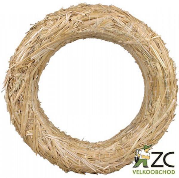Slaměný kruh průměr 35 cm Popis: Slaměný kroužek pro výrobu věnců. Rozměr: vnější průměr: 35 cm vnitřní průměr: 19 cm