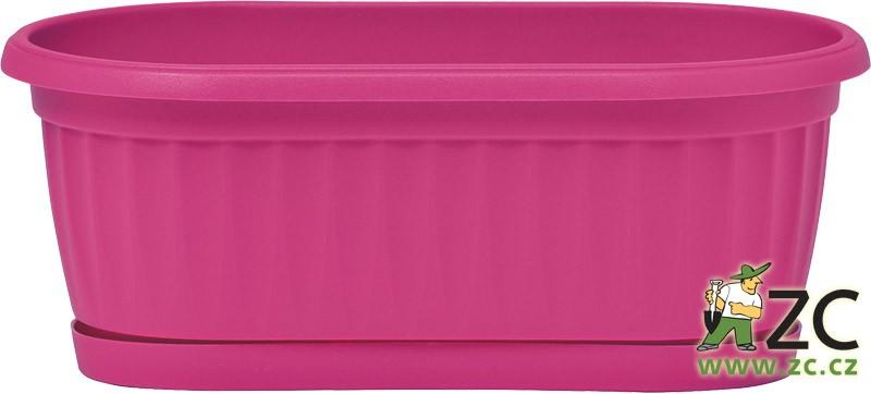 Truhlík Similcotto Mini 22 cm tmavě růžový Popis:Plastový mini truhlík s dezénem a miskou v barvě fuchsia ( tmavě růžová ). Materiál:plastBarva:tmavě růžováRozměry:délka: 22 cmšířka: 11