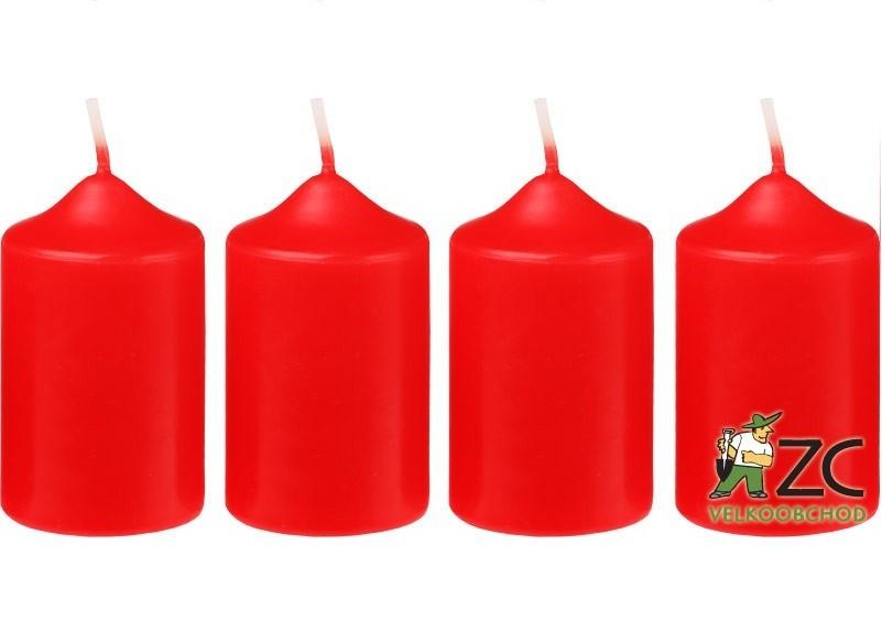 Svíčka adventní 40x60 mm - červená (4ks) Popis:Svíčky vhodné ke zdobení adventních věnců