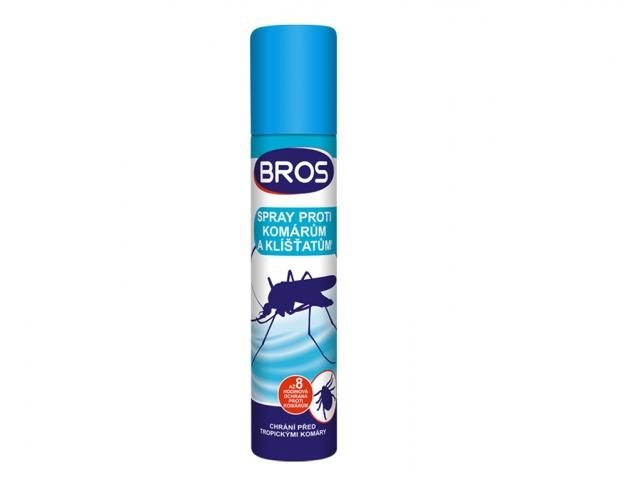 Bros - sprej proti komárům a klíšťatům 90 ml Účinná látka: N