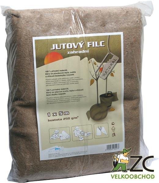 Jutový filc - 1 x 5 m Popis a použití:Díky svým vlastnostem nachází uplatnění především v zemědělství