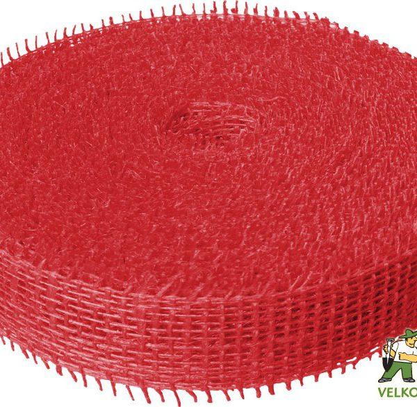 Jutová stuha 4 cm x 25 m - červená Popis:Jutová stuha se používá hlavně k dekoračním a aranžérským účelům.Rozměr:šířka: 4 cmdélka: 25 mBarva:červená