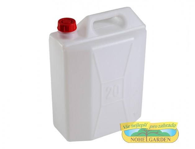 Kanystr bez kohoutku 20 l Plastový lehčený kanystr včetně uzávěru je vhodný ke skladování a přepravě kapalných látek v chemickém