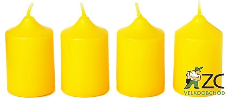 Svíčka adventní 40x60 mm - žlutá (4ks) Popis:Svíčky vhodné ke zdobení adventních věnců