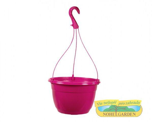 Květináč závěsný Color 25 cm růžový Závěsný květník v lesklých pastelových barvách. Rozměr: d 25 x 15