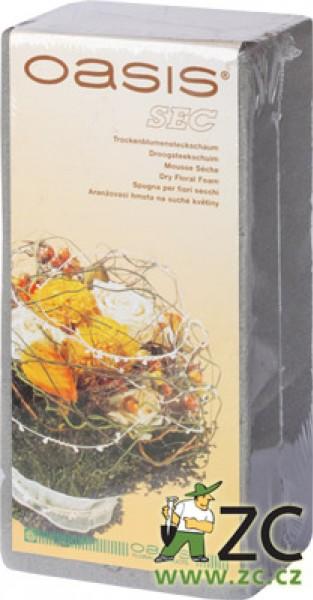 Oasis bio - aranžovací hmota Popis:Aranžovací hmota vysoké kvality pro suché a umělé květiny samostatně balená. Rozměr: délka: 22