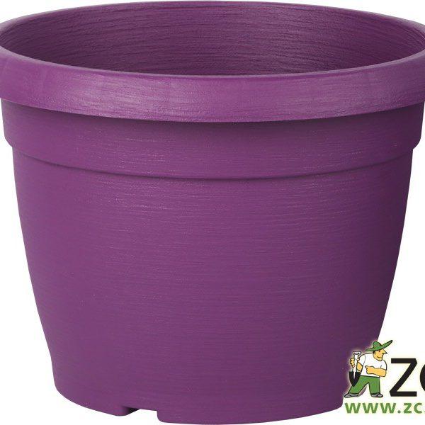 Květináč Similcotto broušený  25 cm fialový Popis:Květináč s dezénem a odtokovými otvory v barvě fialové.Miska vhodná ke květináči: Similcotto 25 cm.Materiál:plastBarva:fialováRozměry:průměr: 25 cmvýška: 19 cm