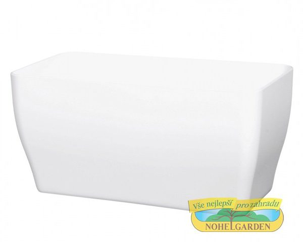Truhlík Living 39 cm bílý Lesklý plastový truhlík. Barva: bílá. Šířka: 39 cm