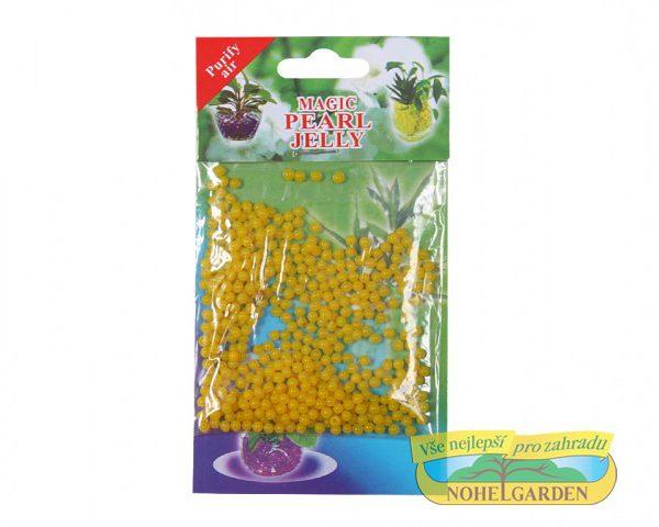 Gelové perličky - žluté 10 g 700 ml Gelové perly nazývané též jako vodní perly