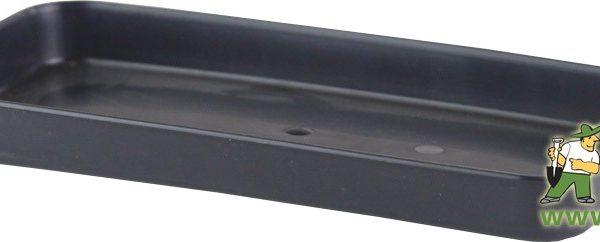 Miska pod truhlík malý 20 cm antracit Popis:Plastová miska na vodu pod květinový truhlík malý kod 500078.Materiál:plastBarva:antracitRozměry:délka: 20 cmšířka: 10 cmvýška: 2 cm