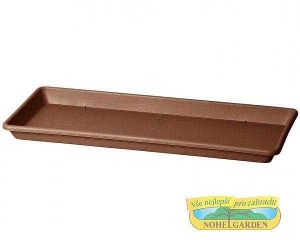 Miska pod truhlík Cassettone 75 cm hnědá Plastová podmiska je určena pod truhlík Cassettone Tera. Rozměry: 75 x 32 cm.