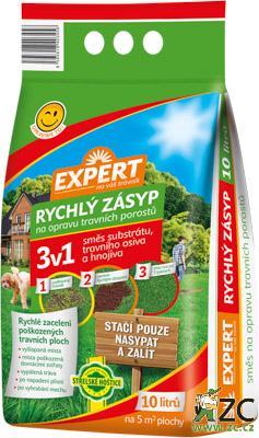 Rychlý zásyp Expert 3v1 10l Popis:Rychlý zásyp na opravu travních ploch je vyroben z kvalitního kokosového substrátu
