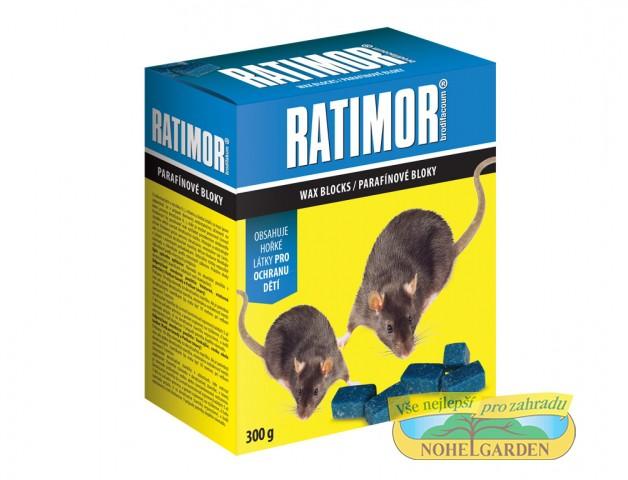 Ratimor 300 g parafínové bloky účinná látka: brodifakum 0