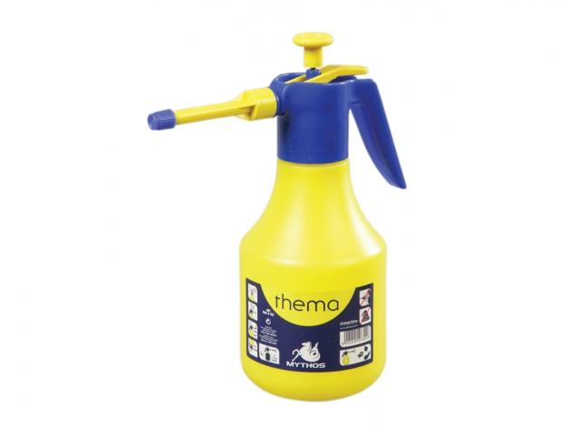 Rozprašovač tlakový THEMA 2 l Tlakový rozprašovač ve žluté barvě o objemu 2 litry. Při šetrném zacházení dlouhodobě bezporuchový.