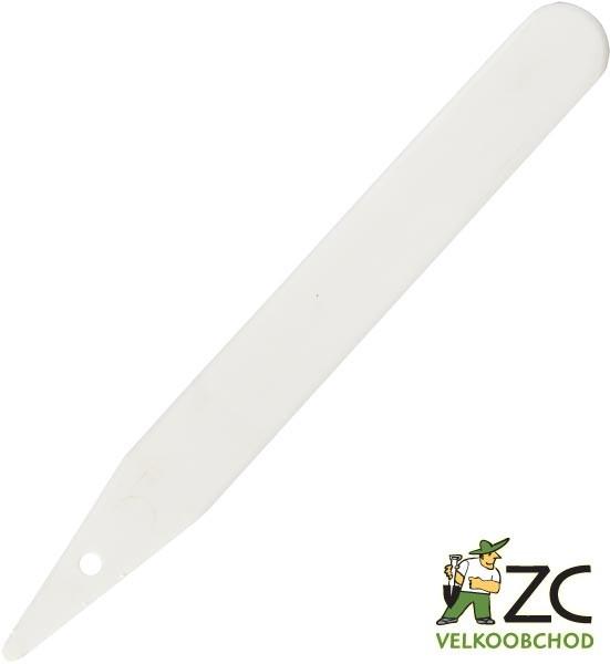 Jmenovka zapichovací L 12 bílá 30x3