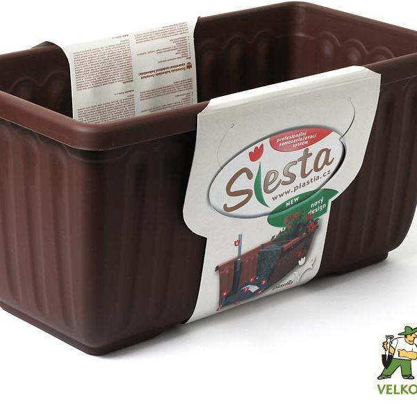 Truhlík samozavlažovací Siesta LUX 40 cm čokoládový Popis:Plastový samozavlažovací truhlík Siesta LUX obsahuje jednu vložku