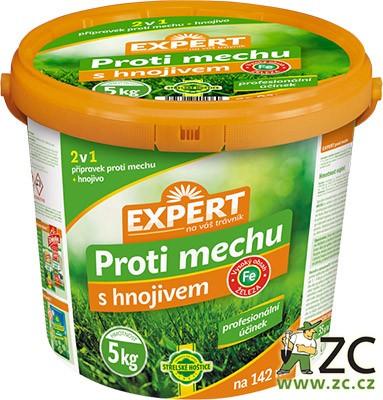 Hnojivo trávníkové - Expert proti mechu 5 kg kbelík složení: N 14 %
