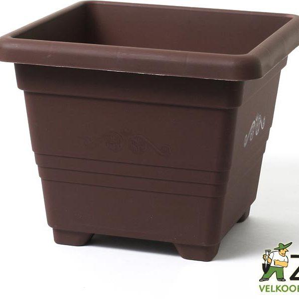 Obal Begonia 40 x 40 x 32 cm čokoládový Popis:Venkovní i vnitřní obaly s elegantním provedením a dlouhou životností. Lze použít jako obal nebo jako květináč.Materiál:plastBarva:čokoládováRozměry:rozměr: 40 x 40 cmvýška: 32 cm