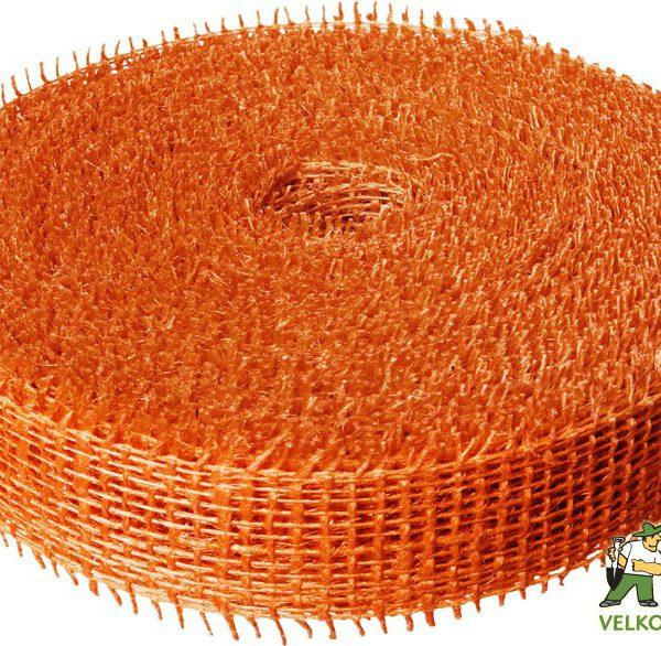 Jutová stuha 4 cm x 25 m - oranžová Popis:Jutová stuha se používá hlavně k dekoračním a aranžérským účelům.Rozměr:šířka: 4 cmdélka: 25 mBarva:oranžová