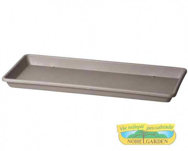 Miska pod truhlík Cassettone 75 cm hnědo šedá Plastová podmiska je určena pod truhlík Cassettone Tera. Rozměry: 75 x 32 cm.