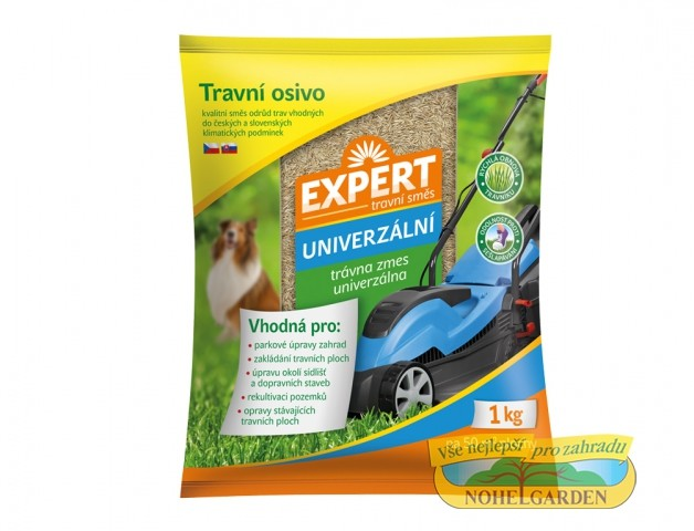 Travní směs Expert - univerzální 1 kg Popis:Travní směsi EXPERT jsou směsi složené z kvalitních odrůd trav. Tyto směsi jsou přizpůsobeny tuzemským klimatickým podmínkám