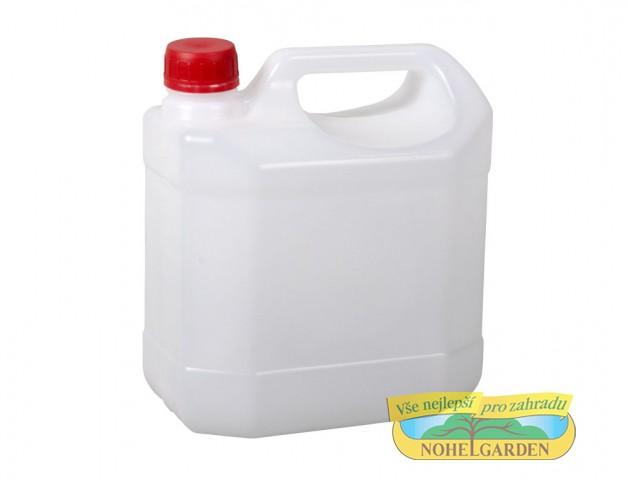 Kanystr lehčený 5 l Plastový lehčený kanystr včetně uzávěru je vhodný ke skladování a přepravě kapalných látek v chemickém