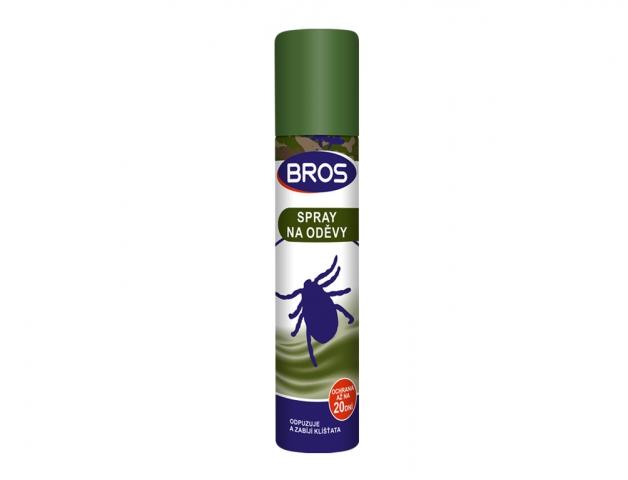 Bros - spray na oděvy proti klíšťatům 90ml Účinná látka: N