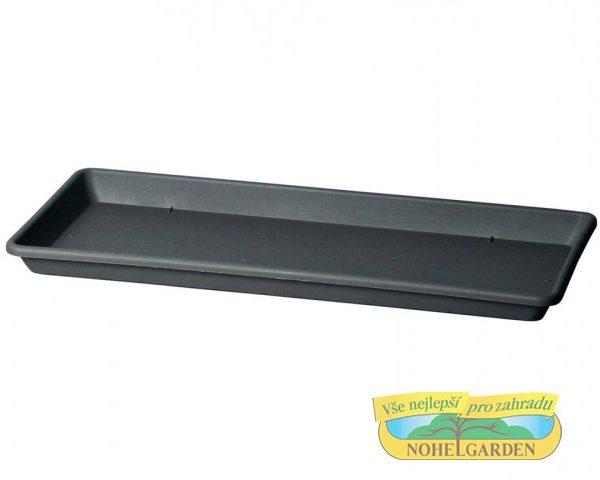 Miska pod truhlík Cassettone 75 cm antracit Plastová podmiska je určena pod truhlík Cassettone Tera. Rozměry: 75 x 32 cm.