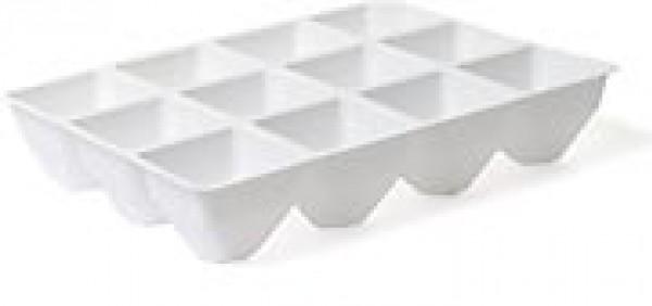 Deska sadbová 12 buněk - pro minipařeniště Popis:Plastová sadbová deska určená k použití v minipařeništi. Obsahuje 12 buněk. Vhodná pro předpěstování rostlin.Materiál:plastBarva:bíláRozměry:rozměr: 22