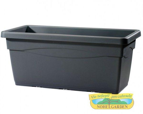 Truhlík Cassettone Tera 80 cm antracit Plastový truhlík je vhodný zejména pro umístění na zahradu