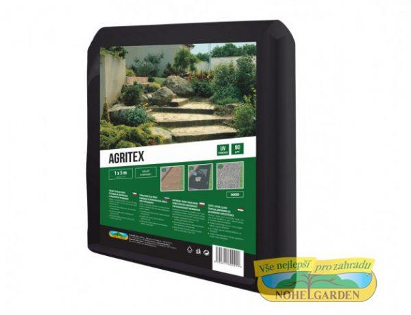 Agritex 1x5m Tkaná textilie proti plevelům v chodnících a okrasných výsadbách. Mimořádně pevná. Barva: černá. Rozměry: 1 x 5 m.
