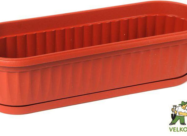Truhlík Similcotto Mini 32 cm teracota Popis:Plastový mini truhlík s dezénem a miskou v barvě teracota.Materiál:plastBarva:teracotaRozměry:délka: 32 cmšířka: 11