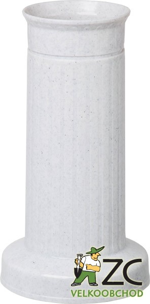 Váza hřbitovní ROVNÁ SLOUP těžké dno granit Popis:Plastová váza se zátěží v podstavci určená především na hřbitov